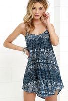 Amuse Society Rorie Blue Print Dress