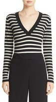 Veronica Beard Women's Decade Stripe Bodysuit
