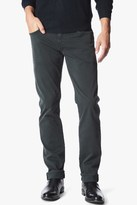 7 For All Mankind Luxe Performance Sateen The Straight In Black Emerald