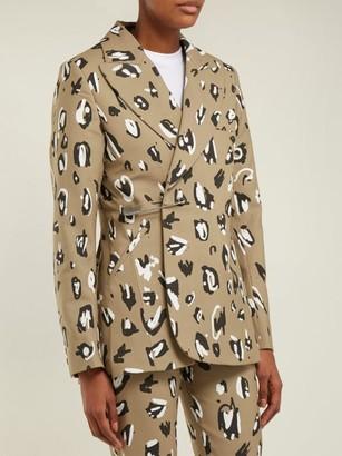 Charles Jeffrey Loverboy Leopard-print Safety-pin Wool Blazer - Leopard