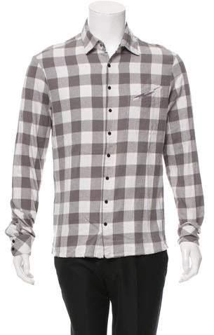 Baja East Checkered Long Sleeve Shirt w/ Tags