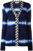 Tory Burch tie-dye cardigan - women - Polyamide/Spandex/Elastane/Viscose/Merino - S