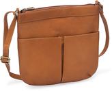 Le Donne Tan Ambrose Leather Crossbody Bag