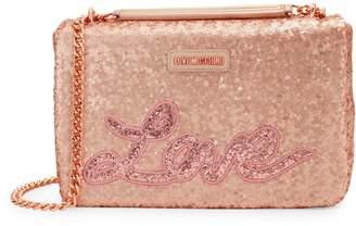 Love Moschino Sequin Logo Sparkle Crossbody Bag