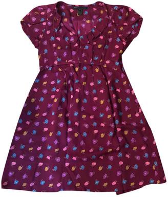 Marc by Marc Jacobs Burgundy Silk Dresses