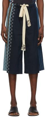 Loewe Navy Stripe Anagram Shorts