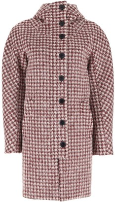Chloé Checked Hooded Button Coat