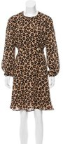 Tory Burch Leopard Print Silk Dress