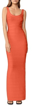 Herve Leger Bandage Round Neck Gown
