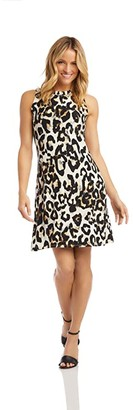 Karen Kane Halter Dress (Cheetah) Women's Dress