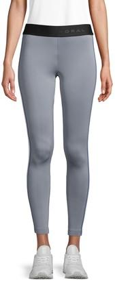Koral Activewear Striped Mid-Rise Leggings