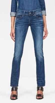 G Star Raw Women's Midge Saddle Mid Straight Jeans in Yzzi Stretch Denim