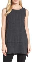 Eileen Fisher Women's Check Silk Tunic