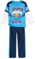 Nannette Little Boys' Superman Knit Pullover and Pants