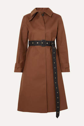 MACKINTOSH Roslin Belted Bonded Wool And Mohair-blend Coat - Brown