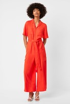French Connenction Enzo Drape Belted Boilersuit