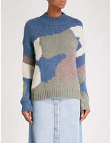MiH Jeans Camouflage-pattern knitted jumper