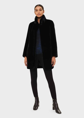 Hobbs Freda Faux Fur Collar Coat