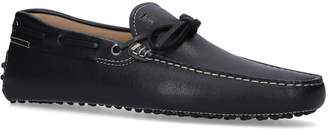 Tod's Contrast Stitch Gommino Driving Shoes