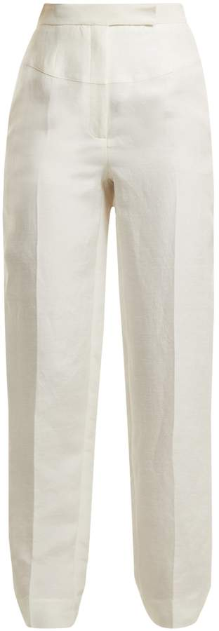 Amanda Wakeley High-rise tapered trousers