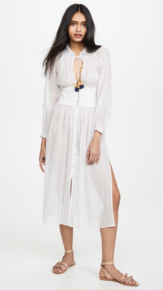 Shoshanna Smocked Duster Cover Up