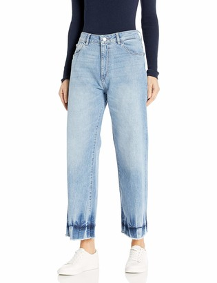 DL1961 Women's Hepburn-High Rise Wide Leg Jeans