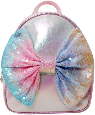 OMG Accessories OMG Ombre Sequin Bow Mini Backpack