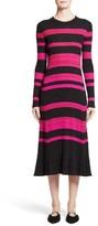 Proenza Schouler Women's Stripe Cashmere, Wool & Silk Midi Dress