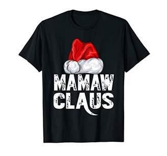 Mamaw Claus Christmas Family Matching Pajama Santa Hat T-Shirt