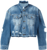 Marcelo Burlon County of Milan Alyssa denim jacket - women - Cotton - XS