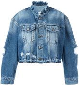 Marcelo Burlon County of Milan Alyssa denim jacket - women - Cotton - XXS