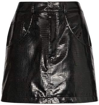 we11done python-effect faux leather mini skirt