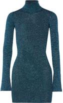 By Malene Birger Errandi Metallic Ribbed-knit Turtleneck Sweater - Petrol
