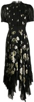 Alice + Olivia Bettina Floral-Lace Midi dress
