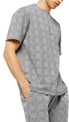 Topman Classic Fit Prince of Wales Plaid T-Shirt