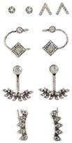 Topshop Women's White Heat Set Of 5 Earrings