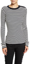 A.L.C. Keenan Ribbed Striped Sweater, Midnight/White