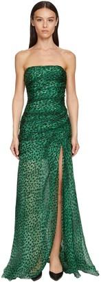 Ermanno Scervino Leopard Print Organza Corset Dress