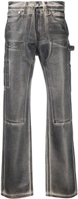 Helmut Lang Paint Effect Jeans