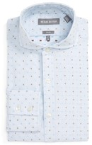 Michael Bastian Men's Trim Fit Graphic Dobby Dress Shirt