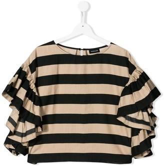 MonnaLisa TEEN ruffled sleeves blouse