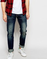 Esprit Distressed Jeans In Skinny Fit - Blue