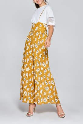 Few Moda Floral Pleated Jumpsuit