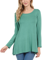 Kelly Green Scoop Neck Tunic