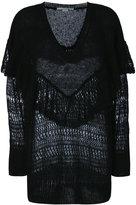 Stella McCartney ruffle neck sweater - women - Polyamide/Mohair/Wool - 36