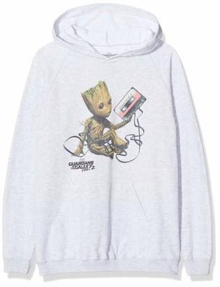 Marvel Girl's Guardians of The Galaxy Vol2 Groot Tape Hoodie