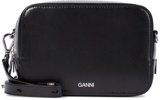 Ganni Leather crossbody bag
