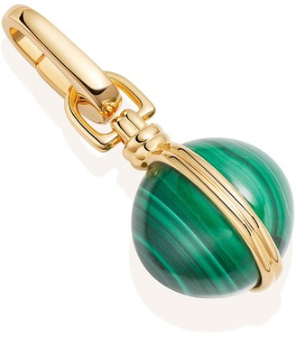 Missoma Gold Malachite Sphere Clip-On Pendant