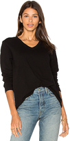 Wilt V Neck Slouchy Long Sleeve in Black