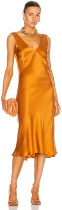 ASCENO The Bordeaux Dress in Caramel | FWRD